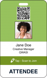 Event attendee badge