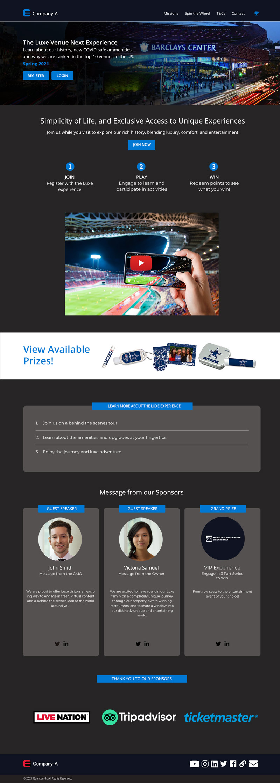 Smart Stadiums is a virtual fan engagement platform