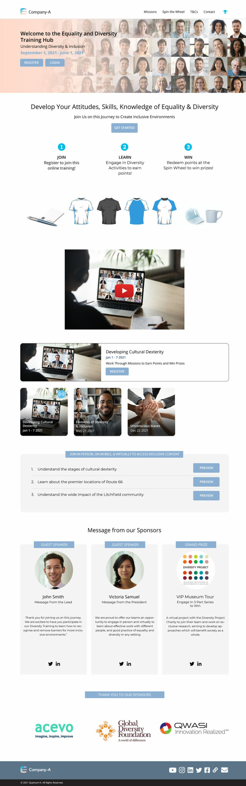 Diversity Training: contactless & virtual engagement