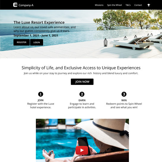 Resort: Contactless & Virtual Engagement