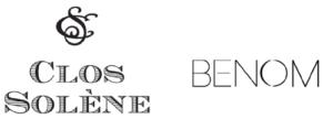 Clos Solene and Benom logos