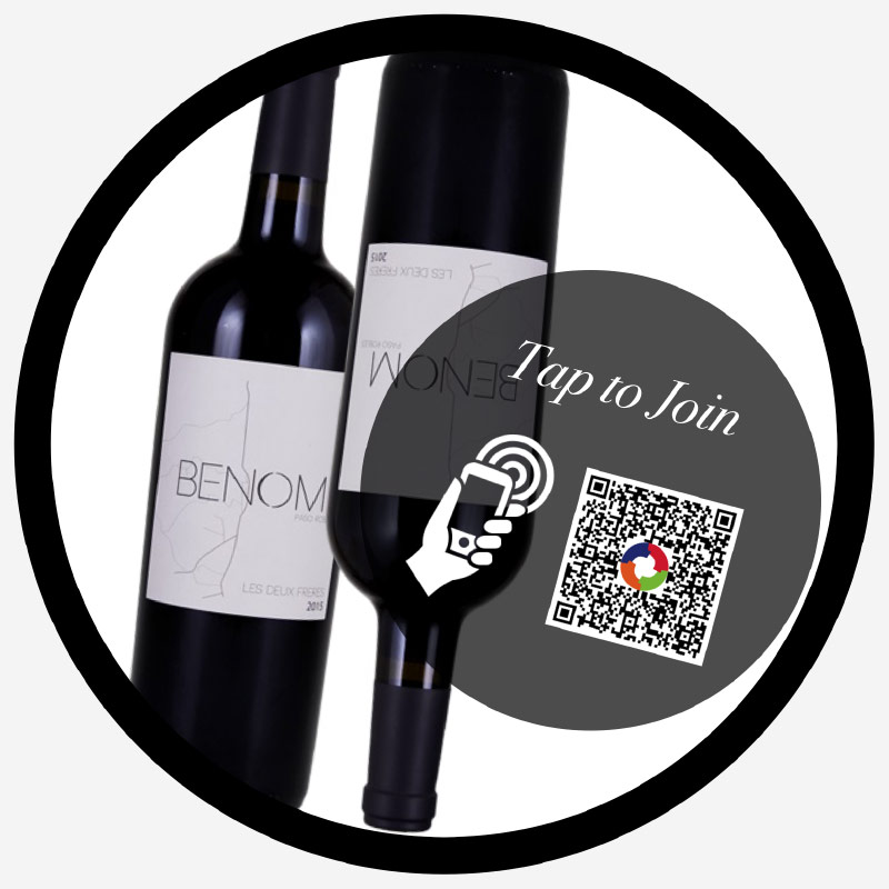 tap-to-join decal QR / NFC